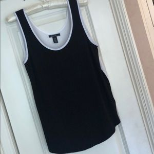 Kenneth Cole black white tank top